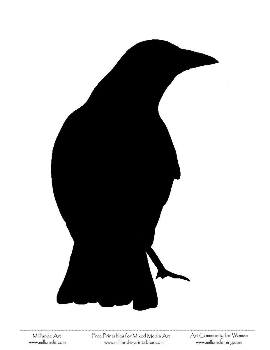 927x1200 Crow Bird Stencil Art Ideas Bird Stencil, Crow