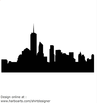 335x355 Skyline Clipart Graphic