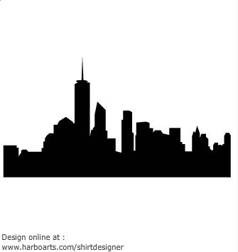 335x355 Skyline clipart graphic