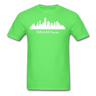 190x190 Dallas Texas Downtown Skyline Silhouette T Shirt Spreadshirt