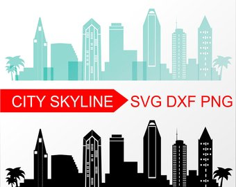 340x270 Seattle Vector Skyline Seattle Svg Silhouette Svg Dxf