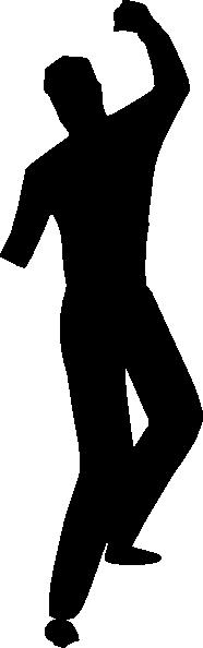 186x594 Dancing Silhouette Clip Art