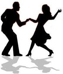 215x250 Silhouette Swing Dancing Couple By Dance Clipart