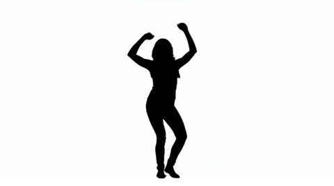 480x268 Silhouette Of A Dancing Woman ~ Video Clip