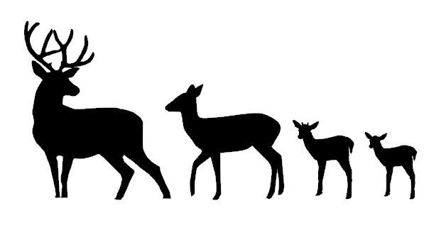 628x345 Deer Silhouette Family Vinyl Car Decal By Countrychicantiques