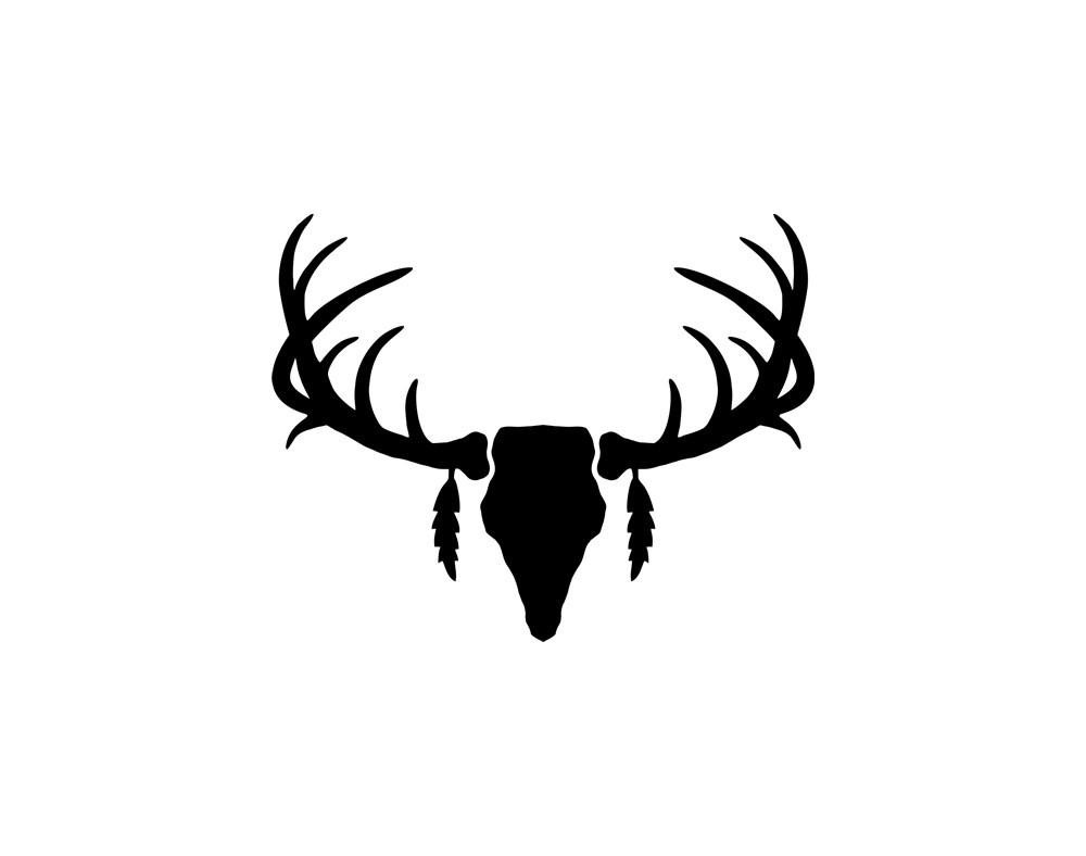 1000x788 Silhouette Vector Deer Antler Clipart Panda Free Images
