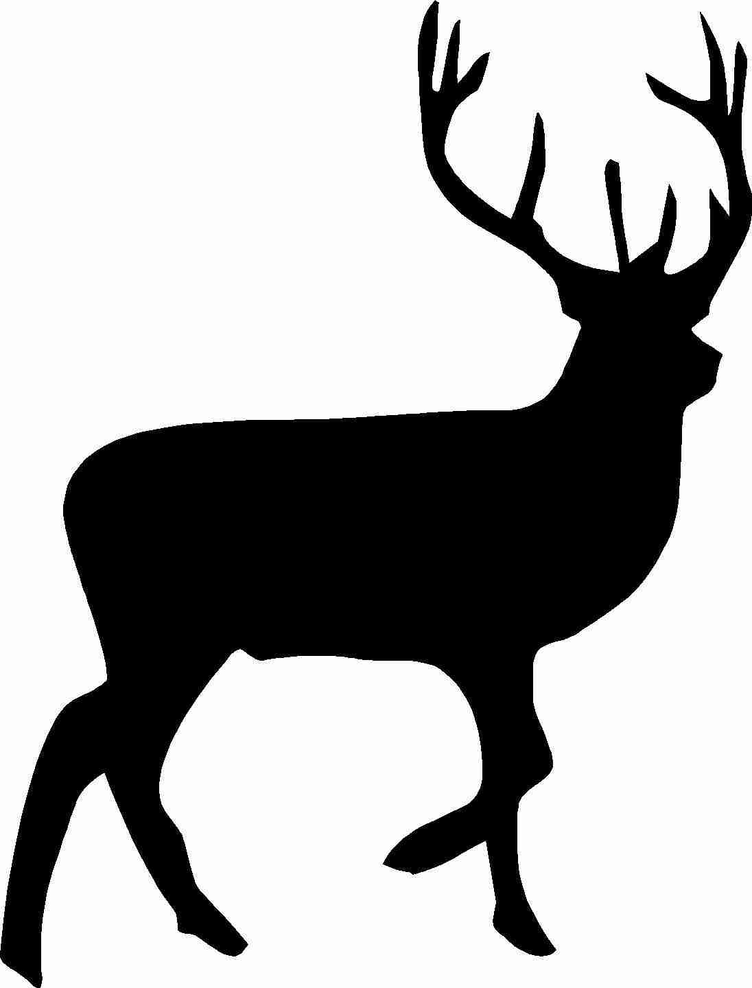 1096x1440 Deer Clipart Silhouette Pencil And In Color At Olegratiy