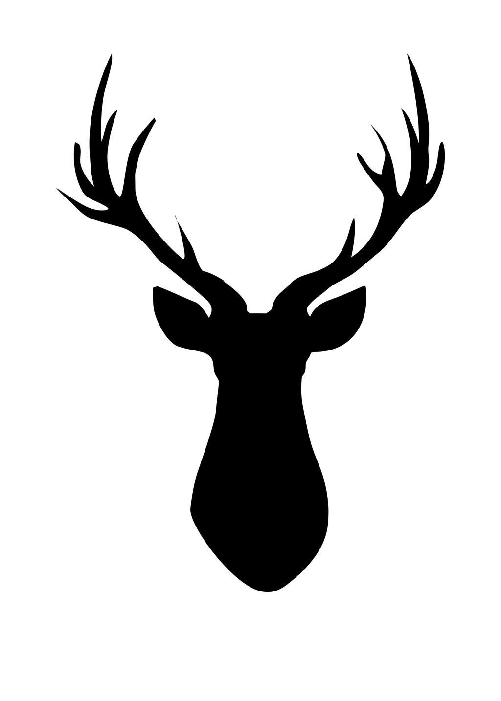 1024x1434 Deer Head Silhouette Graphics Deer Head Silhouette