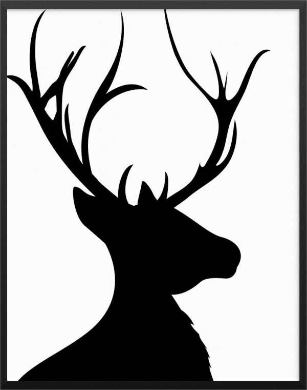 Silhouette Of Deer Head