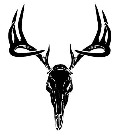 425x480 Deer Skull Decal Sticker