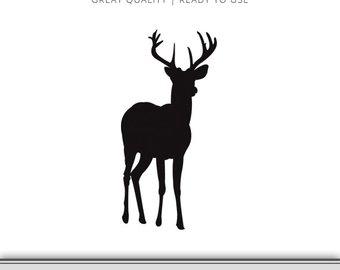 340x270 Deer Tracks Silhouette Deer Svg Deer Track Svg Buck