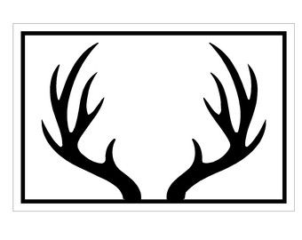 340x270 Antler Clipart Black And White
