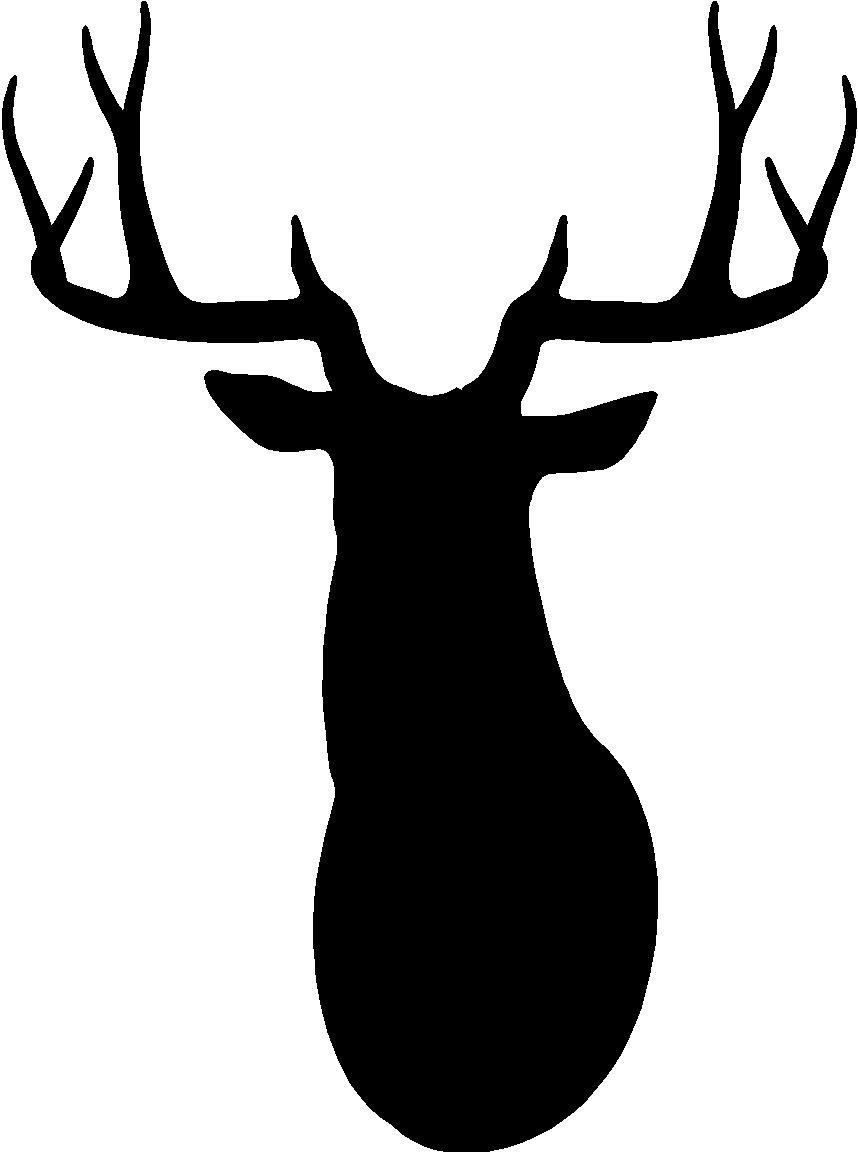 858x1152 Deer Buck Head Clipart