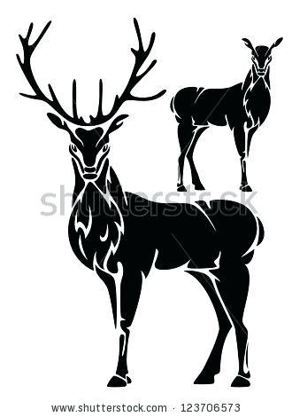 330x470 Deer Outline
