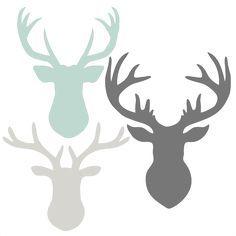 236x236 Deer Head Set Svg Scrapbook Cut File Cute Clipart Files