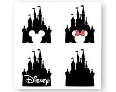 Silhouette Of Disney Castle