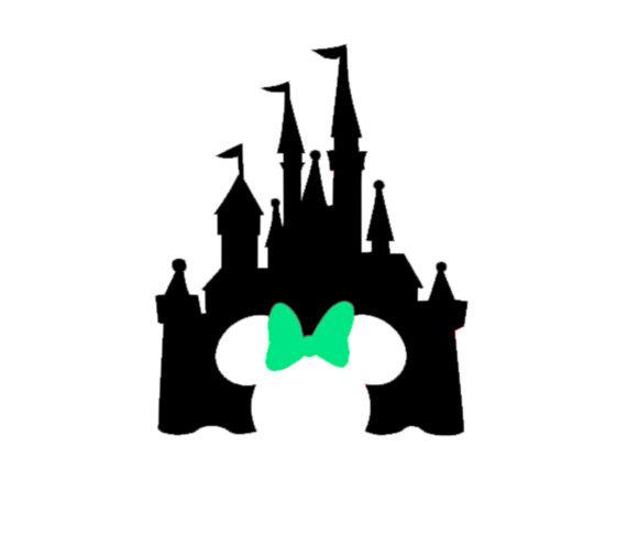 570x494 Disney Castle Bow Decal Disney Decal Disney Castle