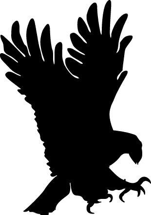 310x441 Eagle Silhouette White Logo