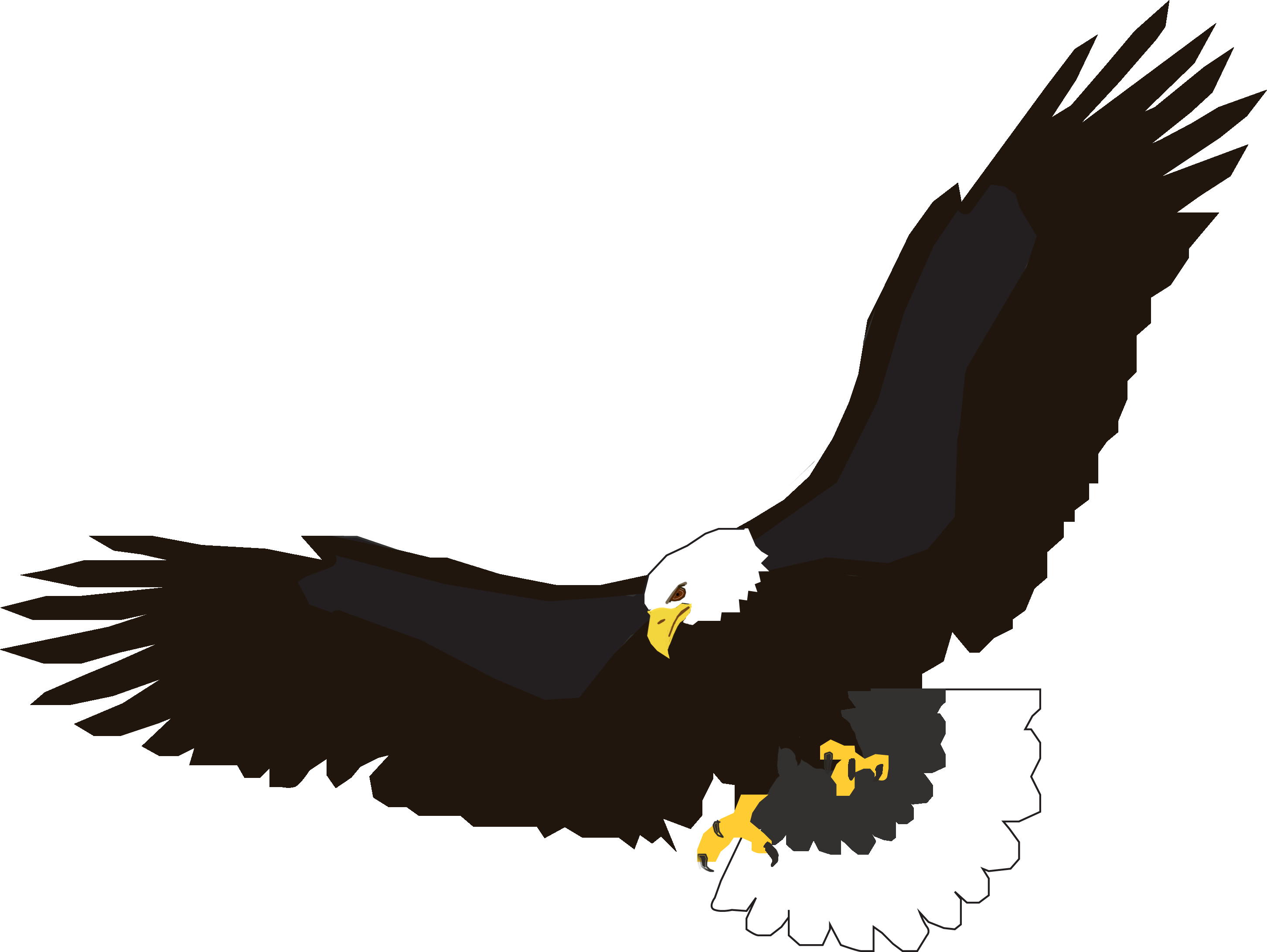 2906x2182 Eagles, Silhouette And Clip Art