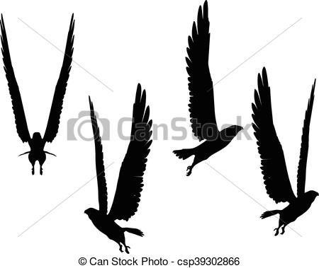 450x379 Eps 10 Vector Illustration Of Eagle Silhouette Clip Art Vector
