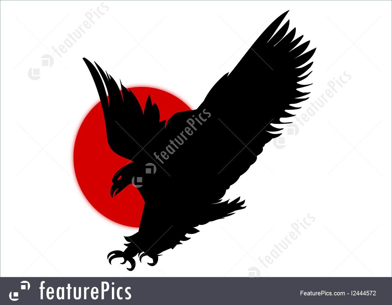 1300x1011 Silhouette Eagle Illustration