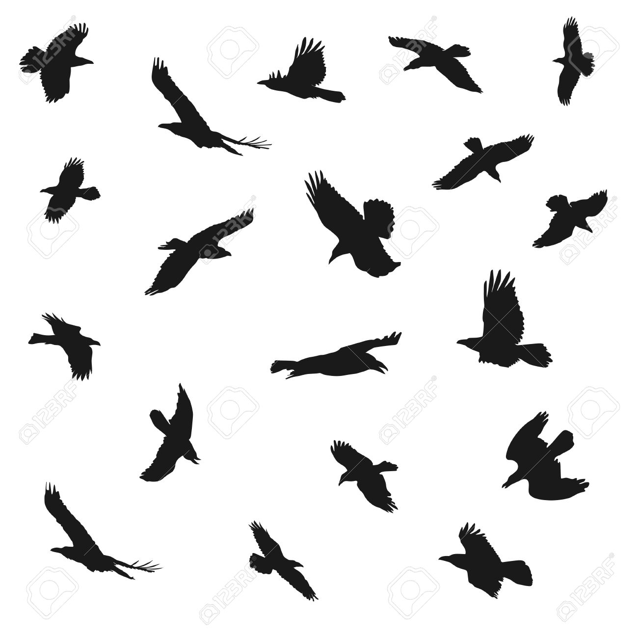 1300x1300 Tawny Eagle Clipart Flight Silhouette