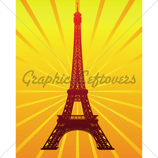 325x325 Eiffel Tower Vector Silhouette Gl Stock Images