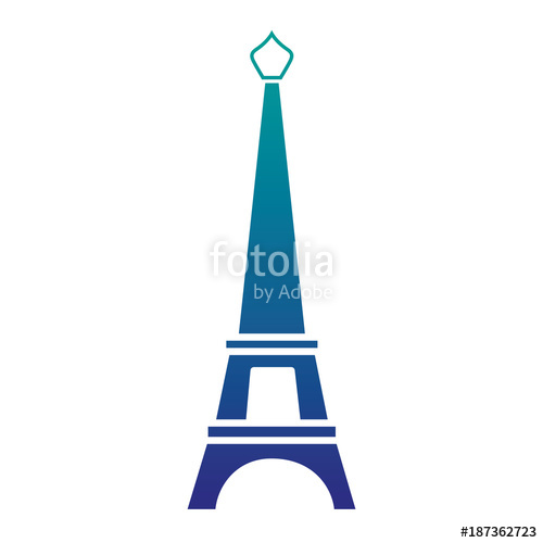 500x500 Silhouette Eiffel Tower Paris Journey Vacation Stock Image