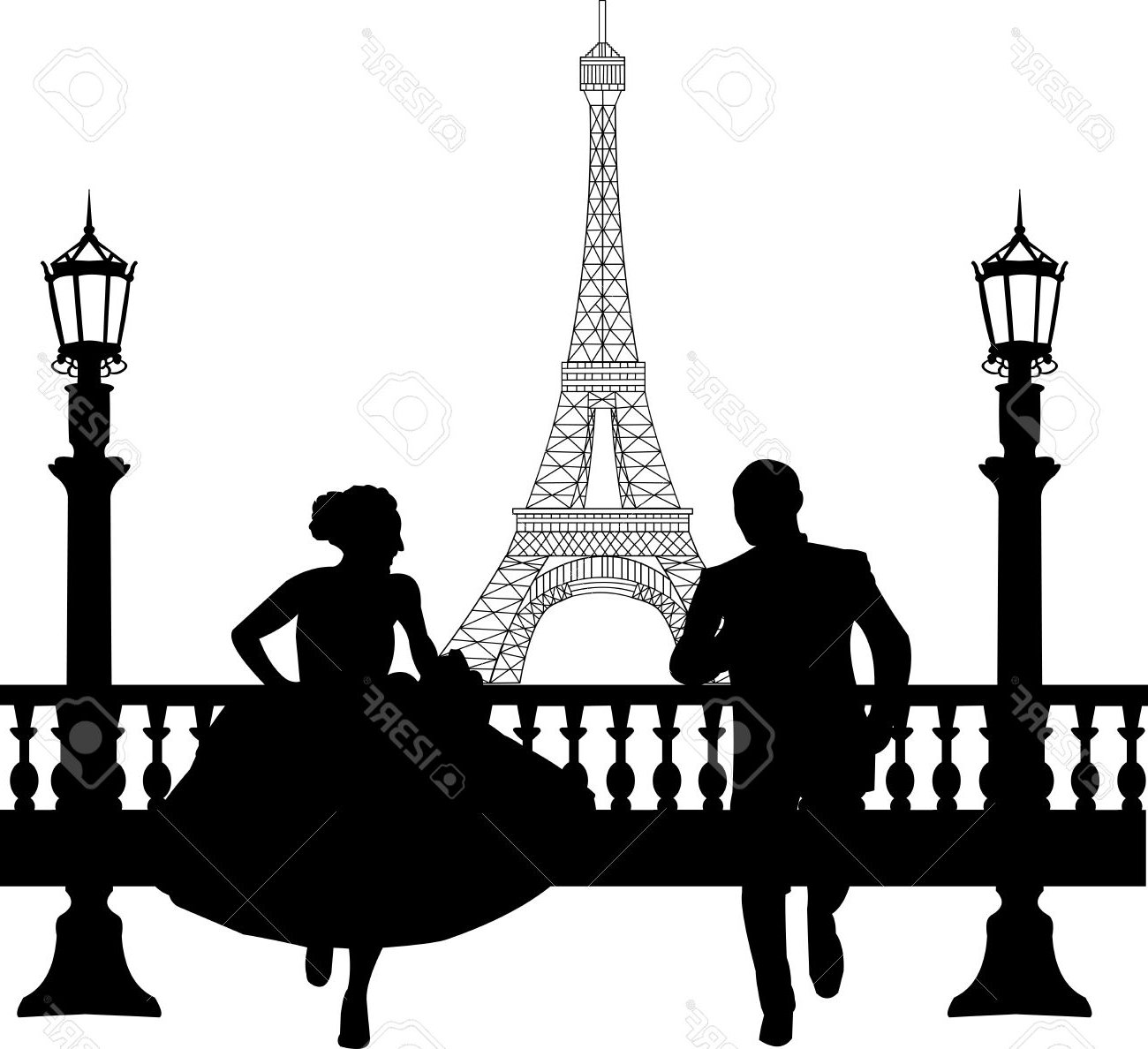 1300x1188 Eiffel Tower Clipart Love Silhouette Many Interesting Cliparts
