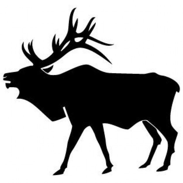 Silhouette Of Elk