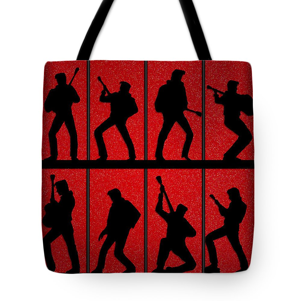 1000x1000 Elvis Silhouettes Comeback Special 1968 Tote Bag For Sale By Liz