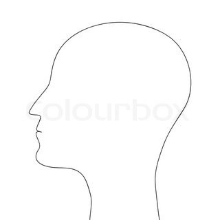 320x320 Silhouette Of A Woman's Head With A Light Bulb Stock Vector