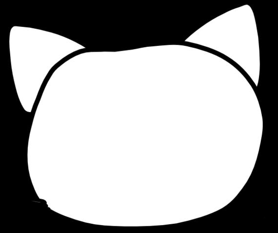 570x478 Cat Face Outline Clipart