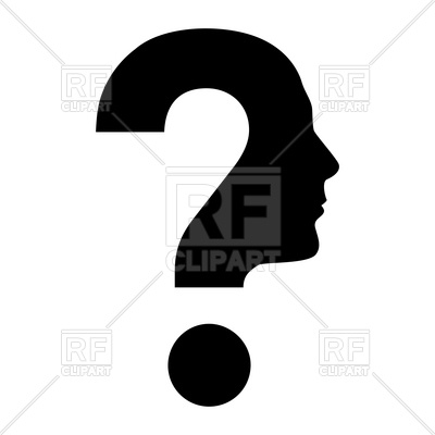400x400 Question Mark With Human Face Profile Silhouette Royalty Free