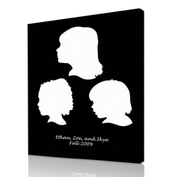 250x250 Silhouette Portraits From Your Photos