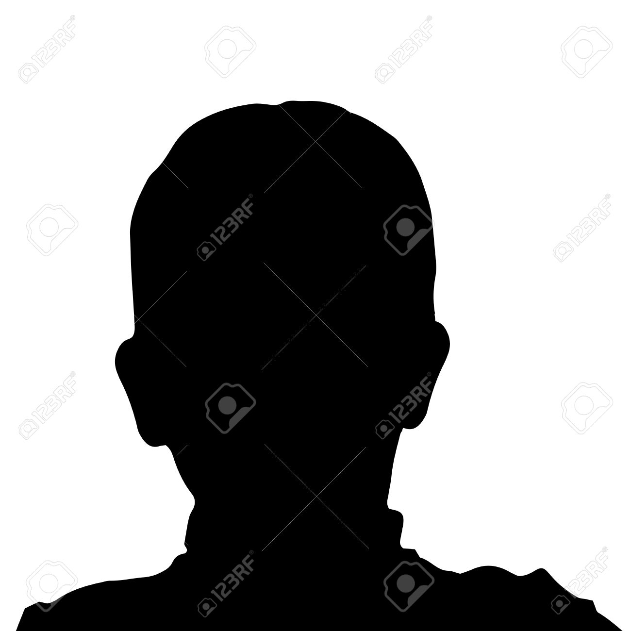 1300x1300 Boy S Face Silhouette Clipart