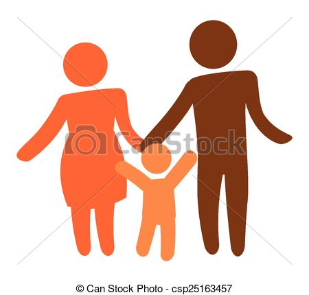 450x430 Family Silhouette Design, Vector Illustration Eps10 Graphic