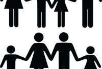 200x135 Top Group Of People Holding Hands Silhouettes Vector Library