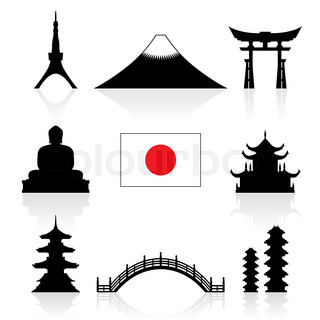 320x320 Four Famous Landmark Icon Of Thai Temple, Japan Grand Gate, France