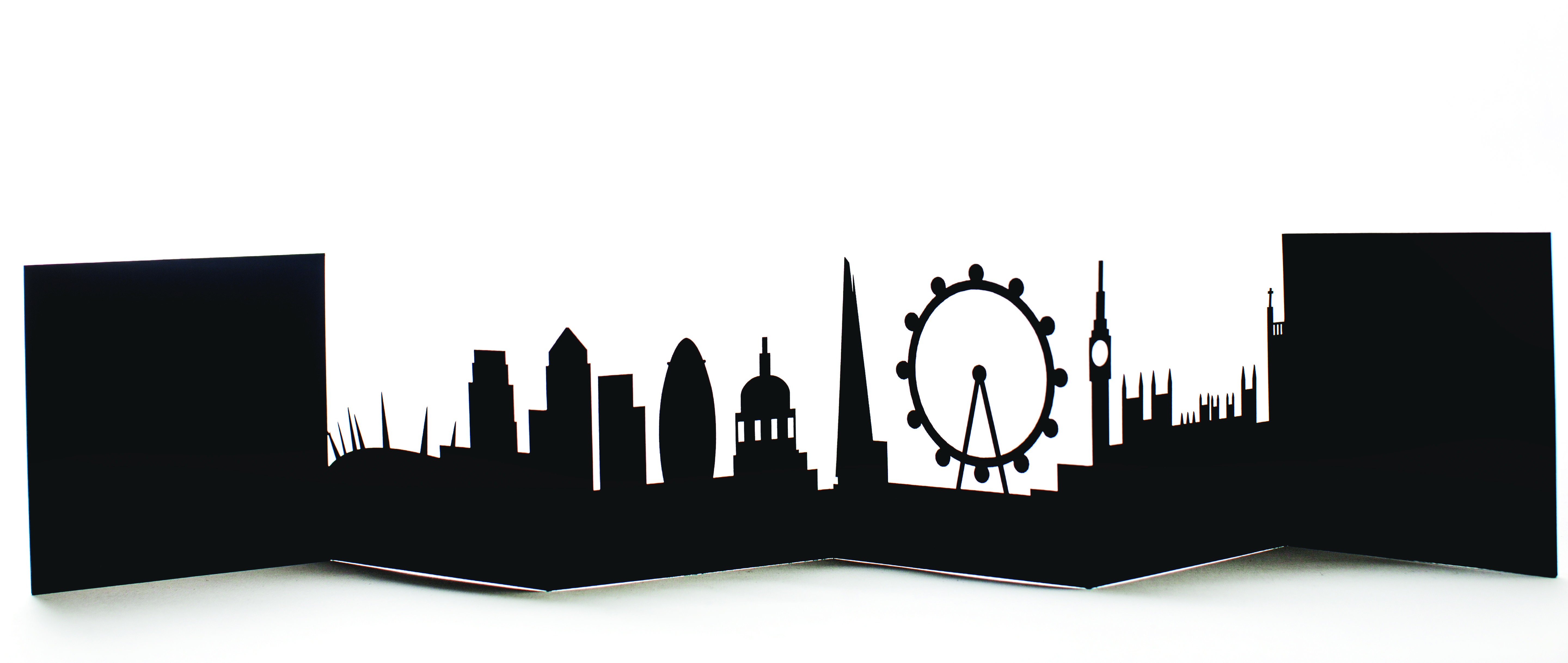5760x2436 London Cityscape Card London Black Card, Handmade