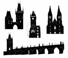 236x202 Prague Landmarks And Monuments Prague, Vector File And Blue