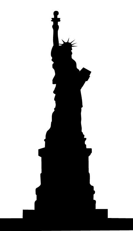 451x782 Statue Of Liberty Silhouette Head Statue Of Liberty Vector