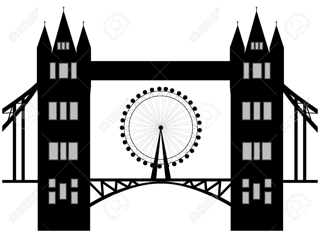 1300x949 Tower Bridge Clipart London Eye