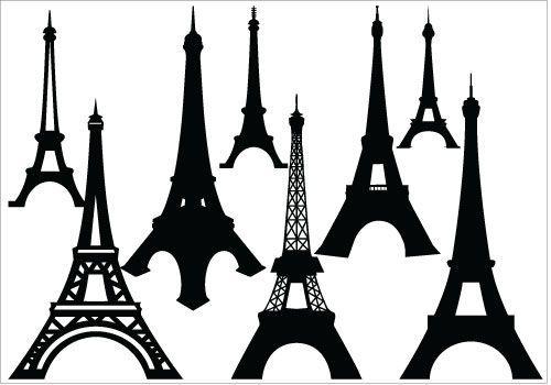 500x350 Eiffel Tower Silhouette Vector Artsilhouette Clip Art Scrapbook