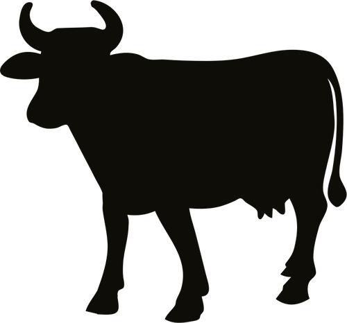 Silhouette Of Farm Animals