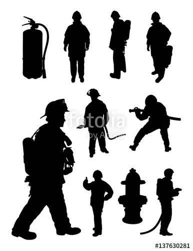 386x500 Fireman Gesture Silhouette. Good Use For Symbol, Logo, Web Icon