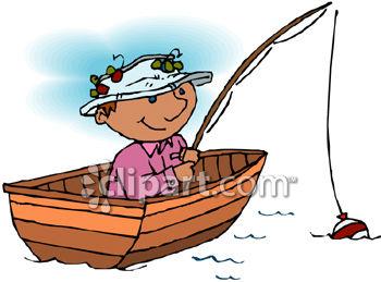 350x259 Fish Paddling A Boat Clipart Amp Clip Art