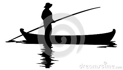 400x228 Man In Boat Clipart