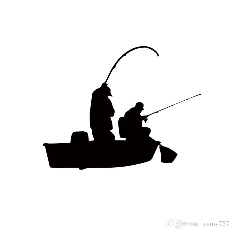 800x800 Creative Fishing Bass Trout Boat Fish Fisherman Graphic Wall
