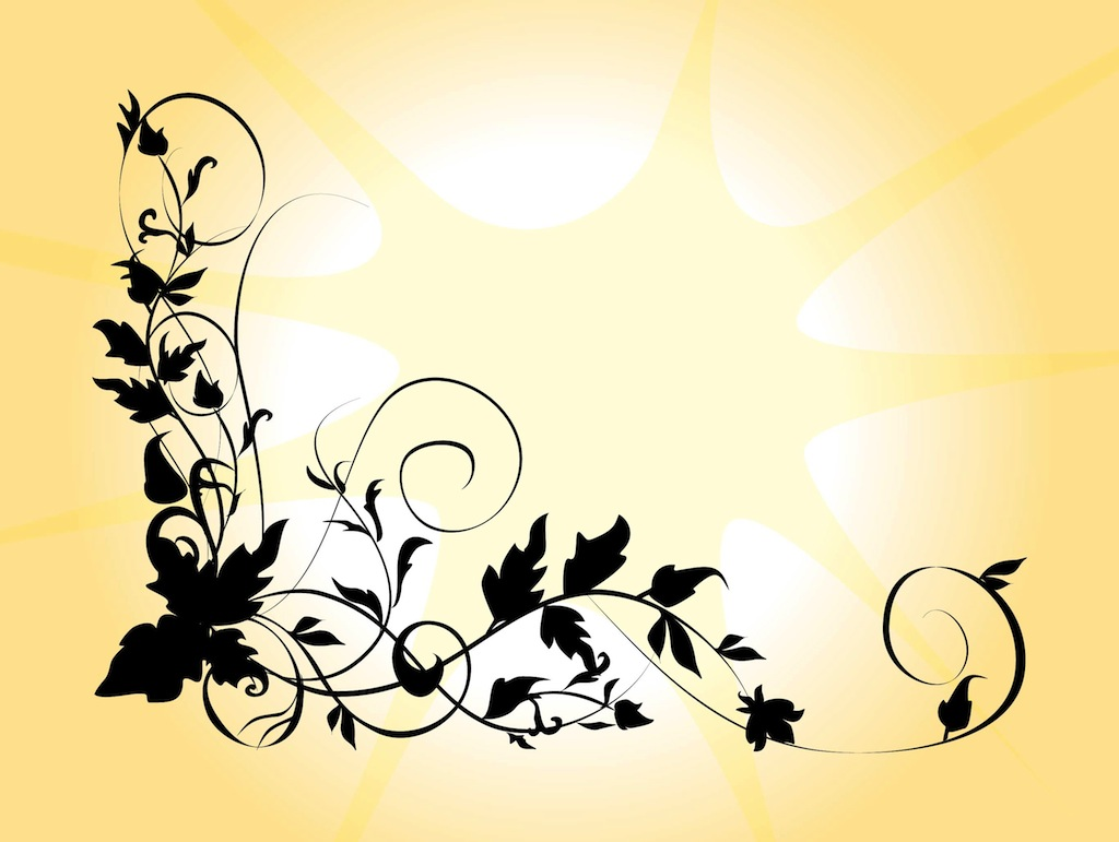 1024x771 Silhouette Flower Vector Art Amp Graphics